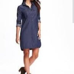 Old Navy Denim Shirt Dress Size-Small/Tall